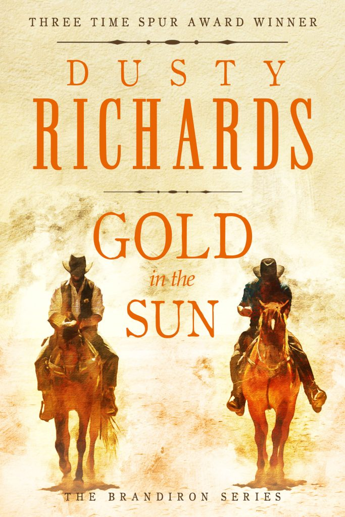 Cover: Gold in the Sun by Dusty Richards