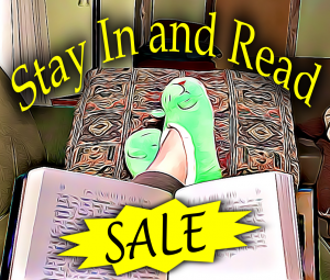 """""""Stay In and Read"""" sale"""